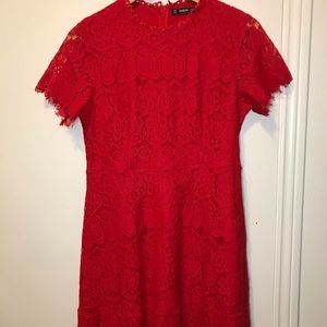 NWOT Red Lace Dress